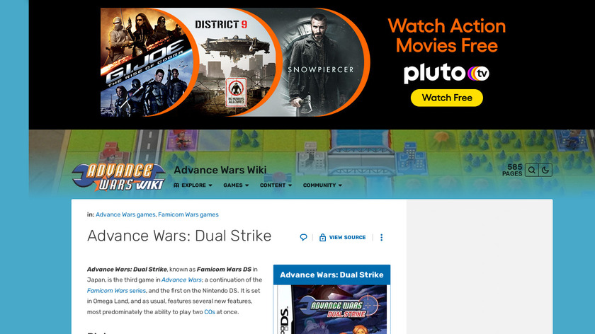 Advance Wars: Dual Strike Landing Page