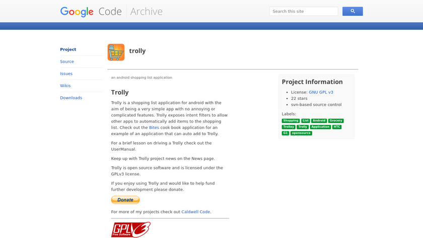 Trolly Landing Page
