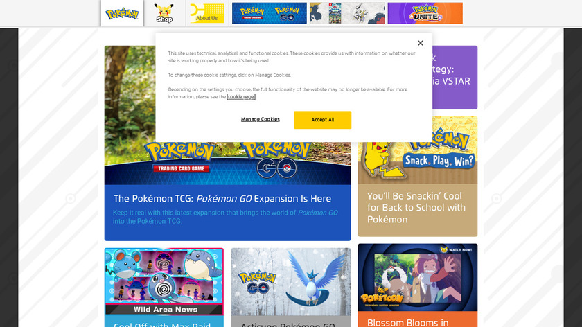 Pokémon Landing Page