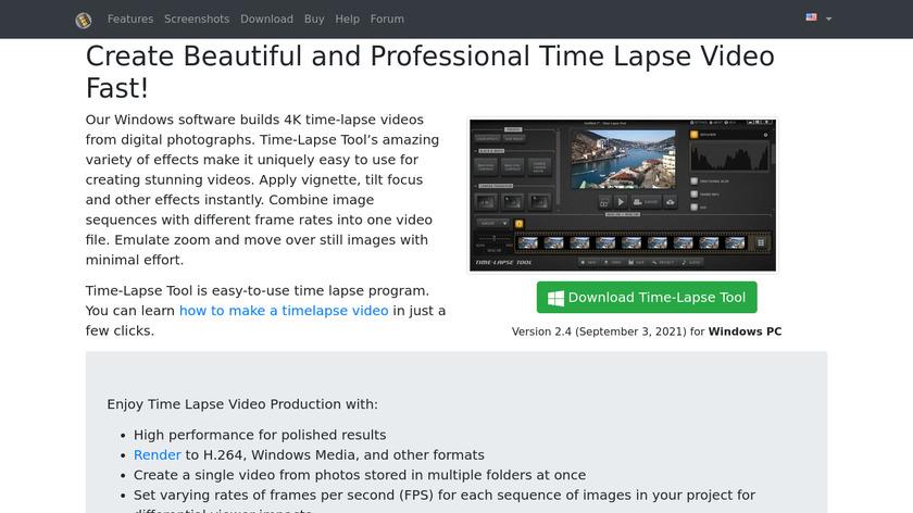 Time-Lapse Tool Landing Page