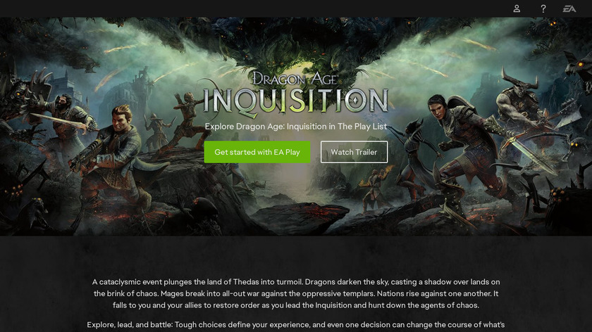 Dragon Age: Inquisition Landing Page