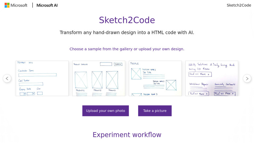Sketch 2 Code Landing Page