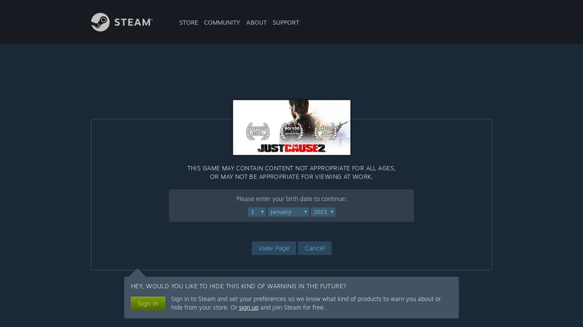 Just Cause 2 Landing Page