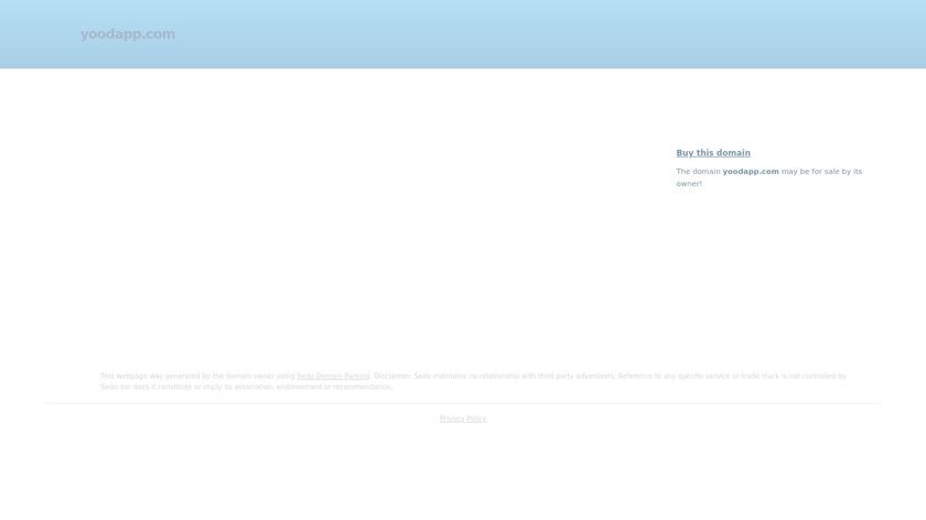 Yood! Landing Page
