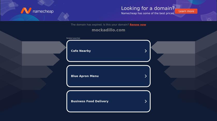 Mockadillo Landing Page