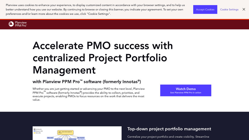 Planview PPM Pro Landing Page