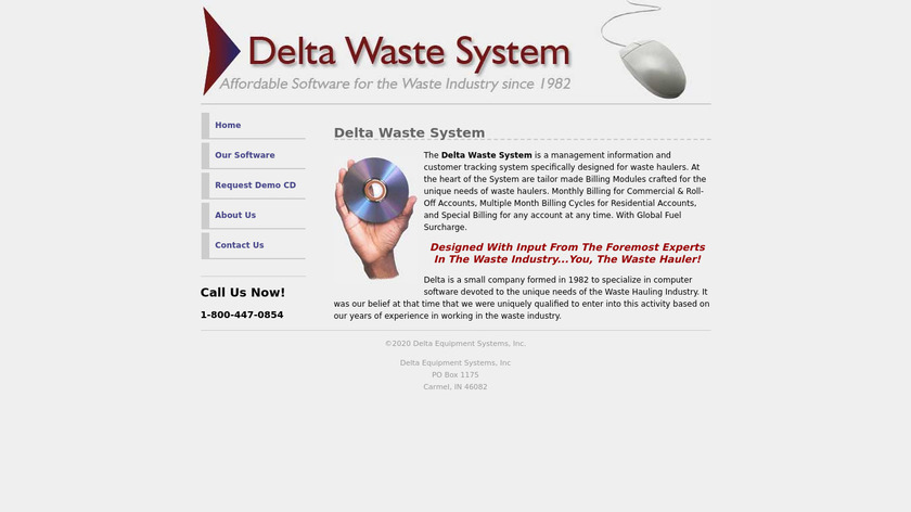 Delta Waste System Landing Page