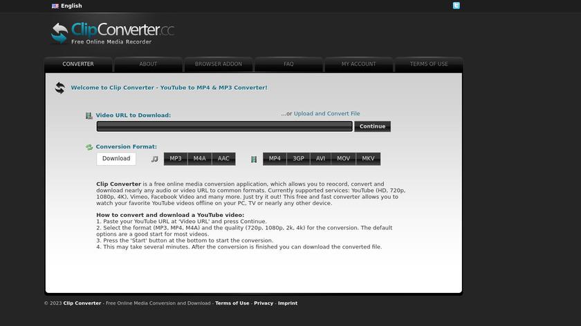 ClipConverter.cc Landing Page