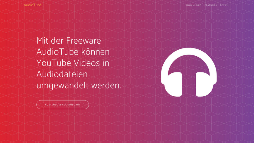 AudioTube.org Landing Page