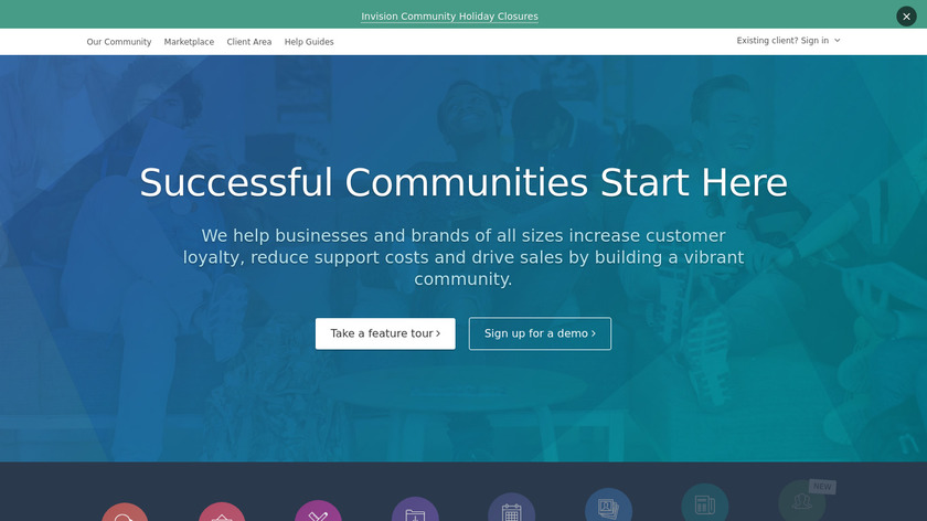 Invision Community Landing Page