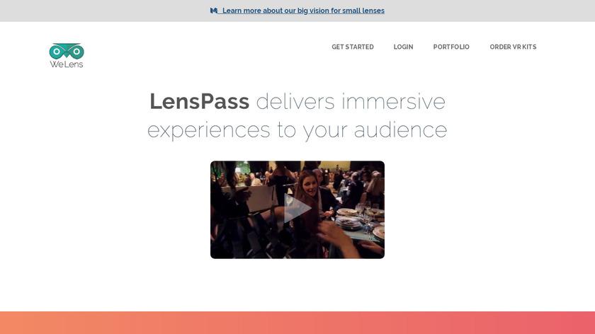 LensPass Landing Page