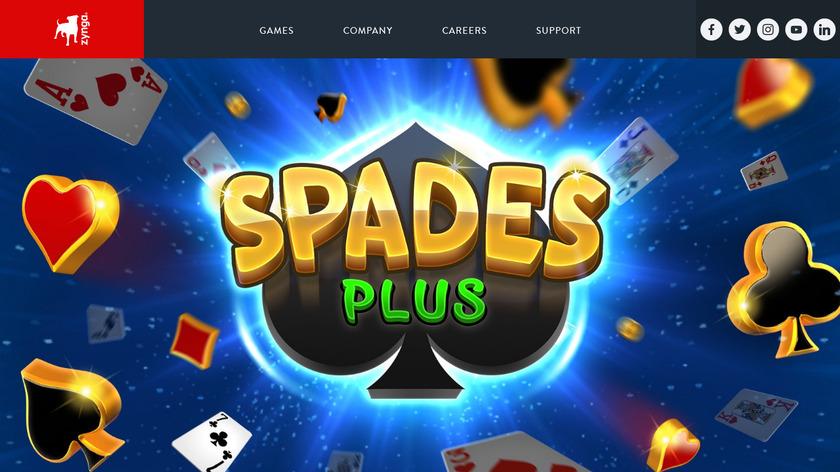 Spades Plus Landing Page