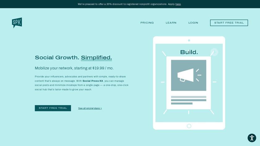 The Social Press Kit Landing Page
