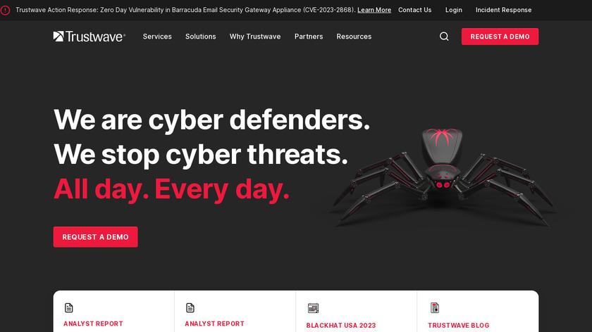 Trustwave Services Landing Page