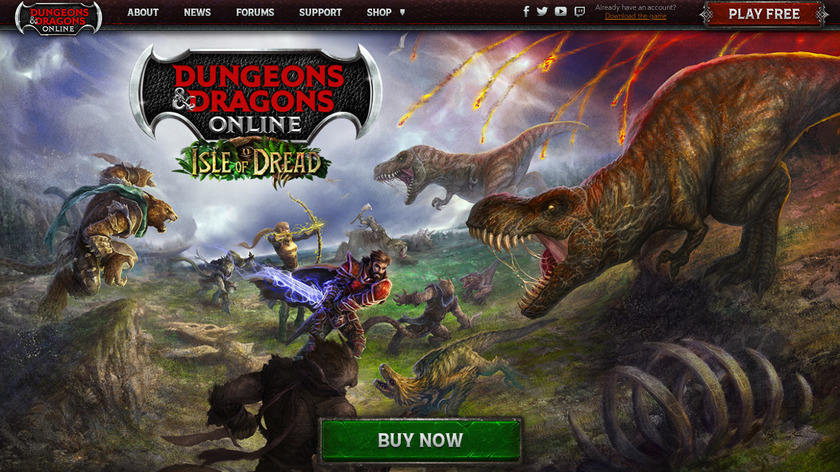 DDO: Dungeons and Dragons Online Landing Page
