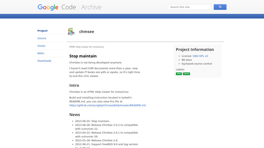ChmSee Landing Page