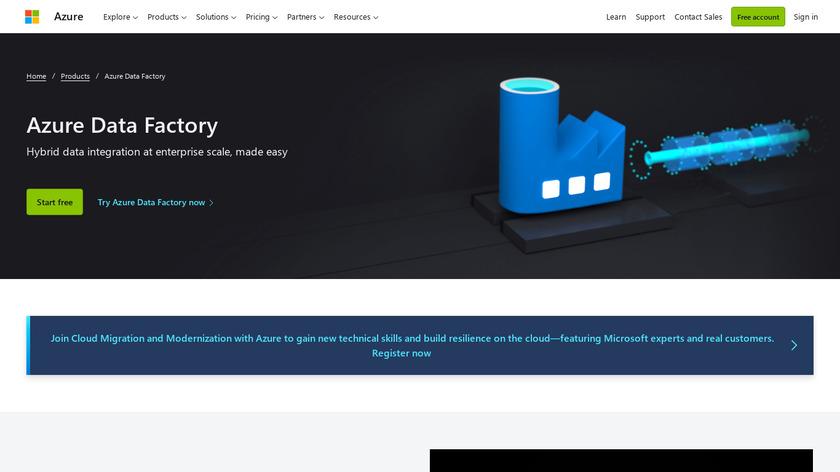 Azure Data Factory Landing Page