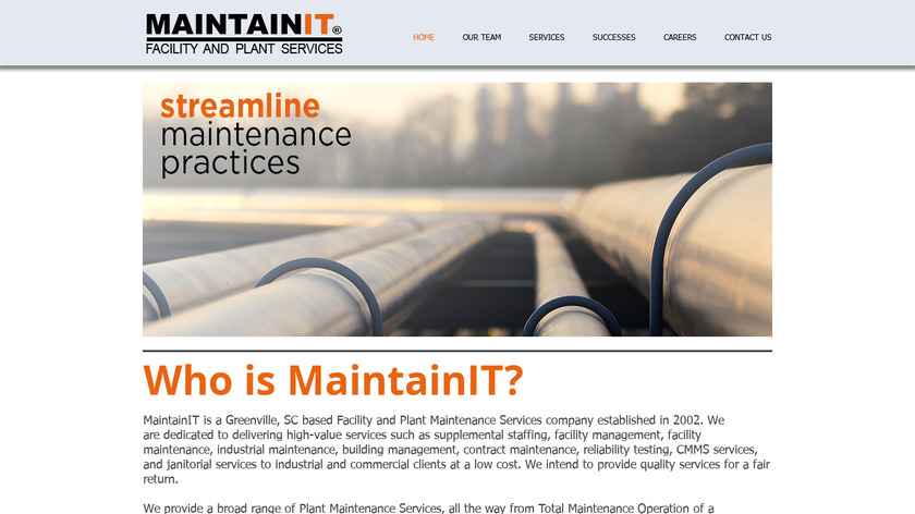 Maintain-It Landing Page