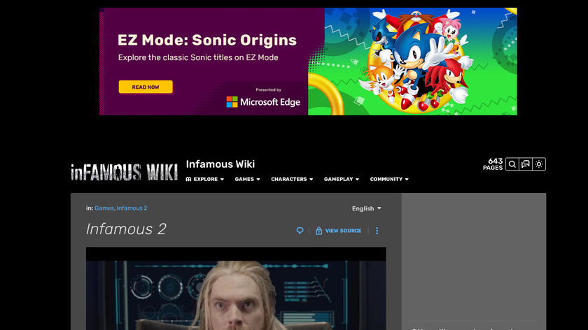 Infamous 2 Landing Page