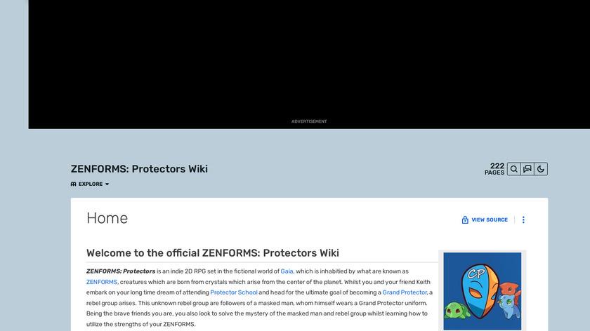 Zenforms: Protectors Landing Page