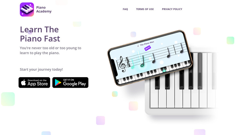 Piano Academy Landing Page