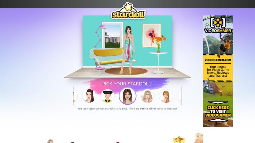 Stardoll Landing Page