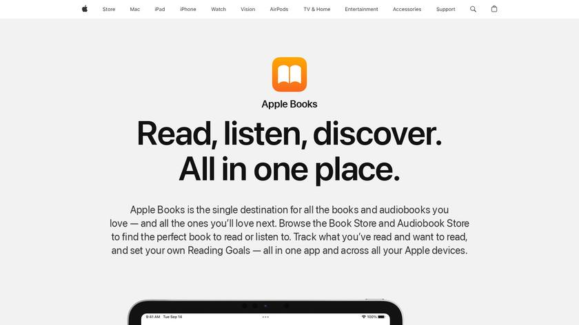Apple Books Landing Page
