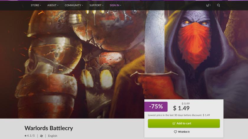 Warlords Battlecry Landing Page