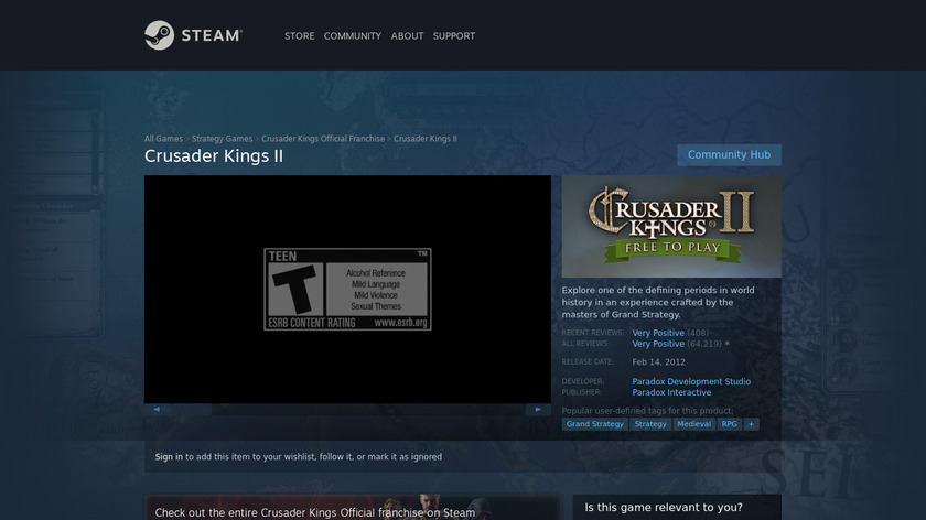 Crusader Kings II Landing Page