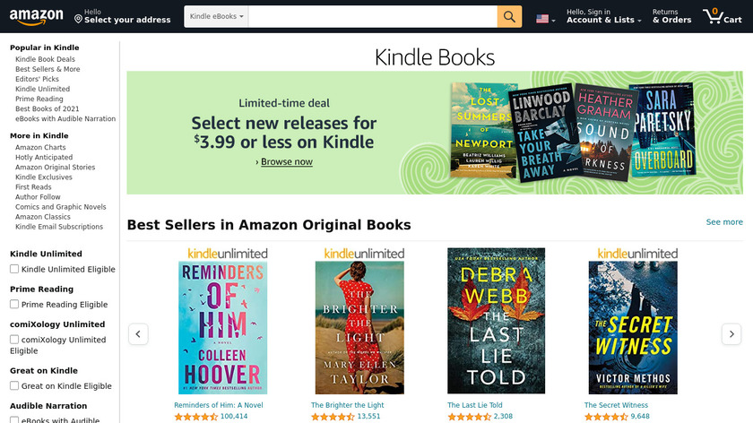 Amazon Kindle Store Landing Page