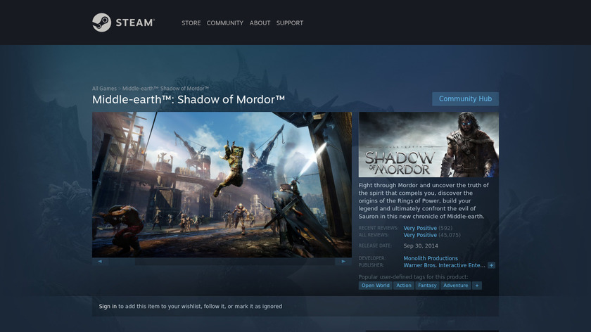 Middle-earth: Shadow of Mordor Landing Page
