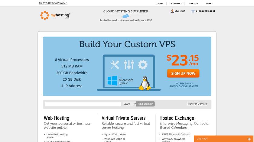MyHosting Landing Page