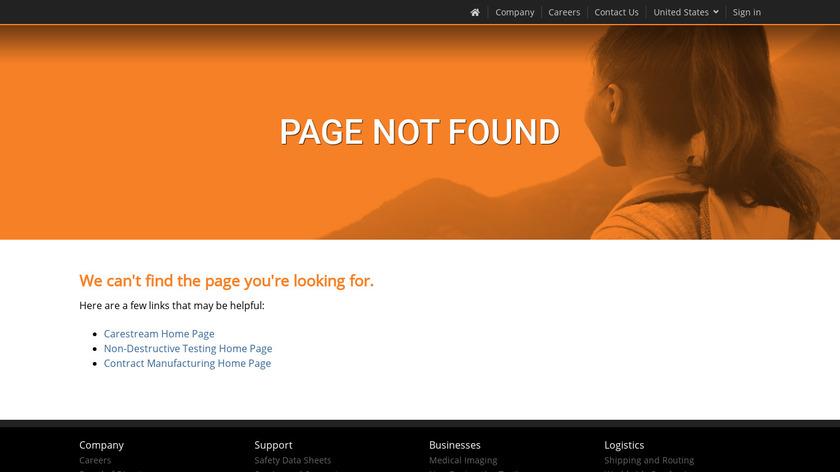 Carestream Vue PACS Landing Page