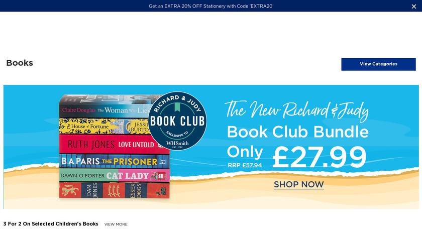 WHSmith Landing Page