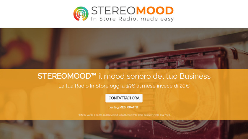 Stereomood Landing Page