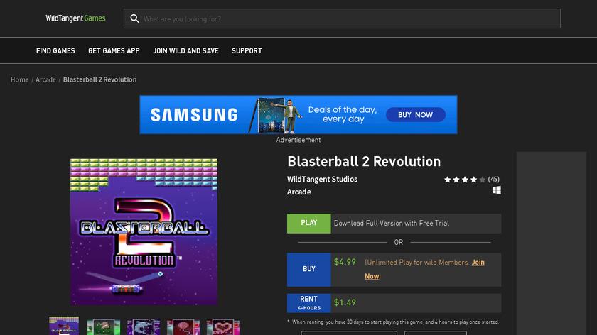 Blasterball 2: Revolution Landing Page