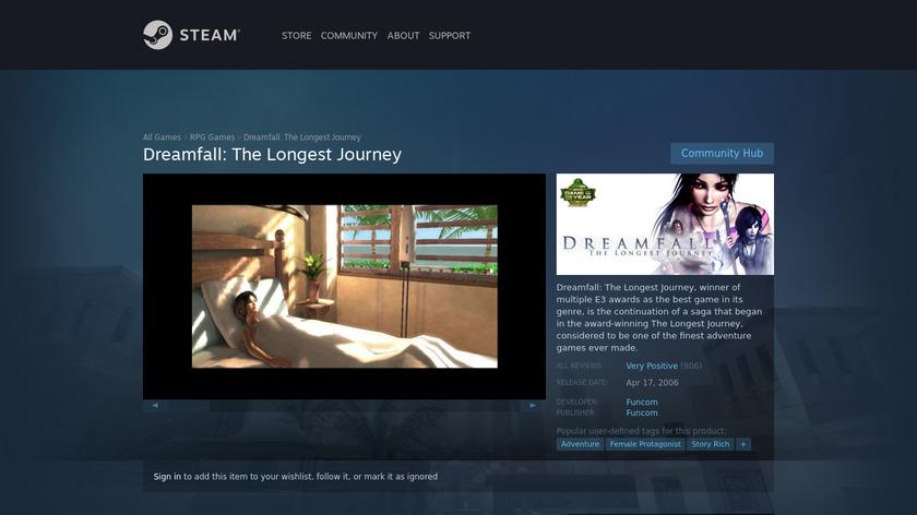 Dreamfall: The Longest Journey Landing Page