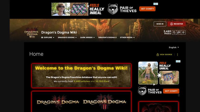 Dragon's Dogma Landing Page