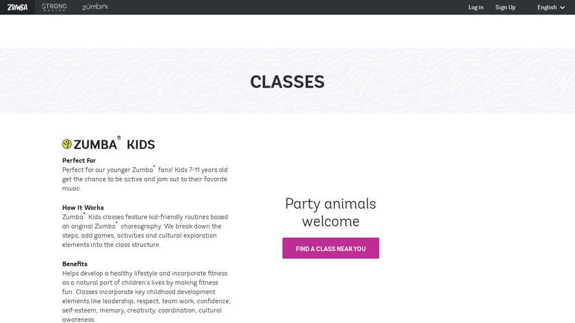 Zumba Kids Landing Page