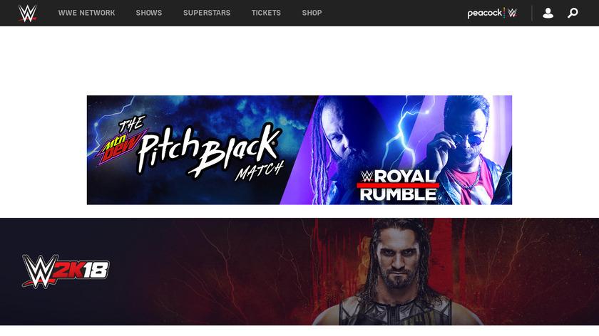 WWE 2K18 Landing Page