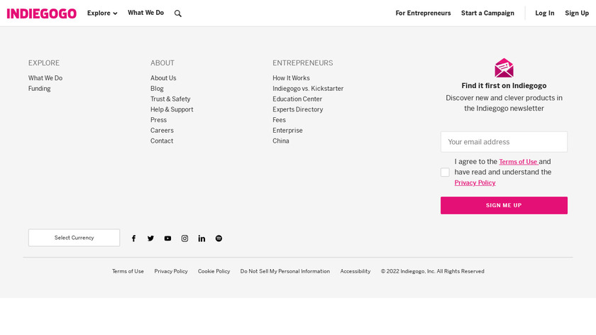 Evive Toolkit Landing Page