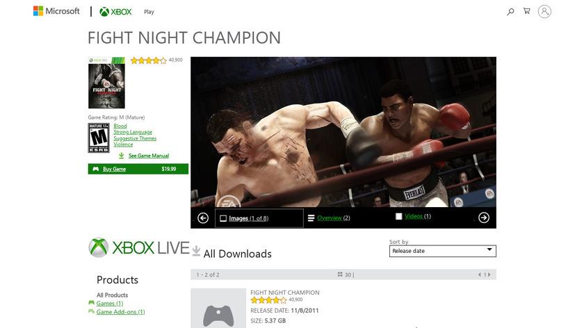 Fight Night Champion Landing Page