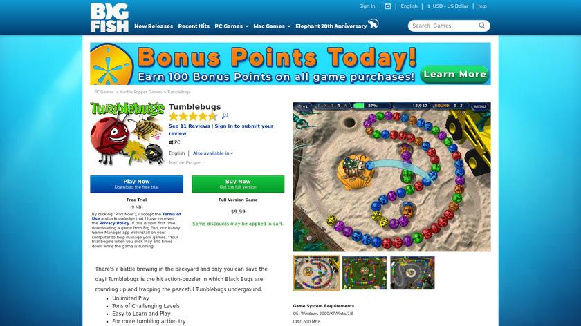 TumbleBugs Landing Page