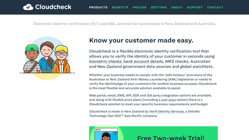 CloudCheck Landing Page