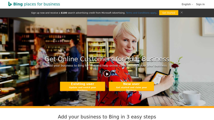 Bing Places for Business Landing Page