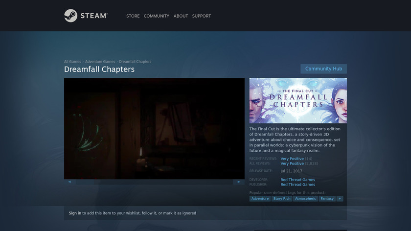Dreamfall Chapters Landing Page