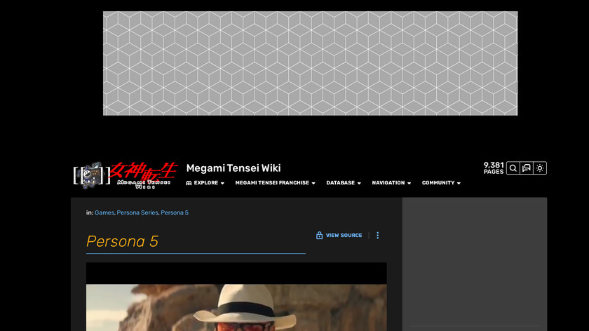 Persona 5 Landing Page