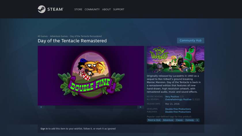 Day of the Tentacle Landing Page