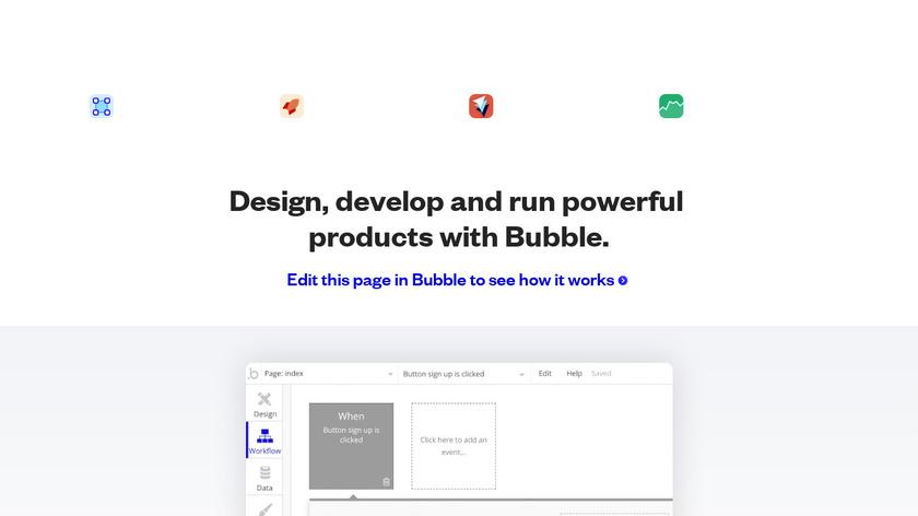 Bubble.io Landing Page