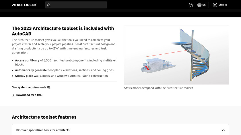 AutoCAD Arch Landing Page